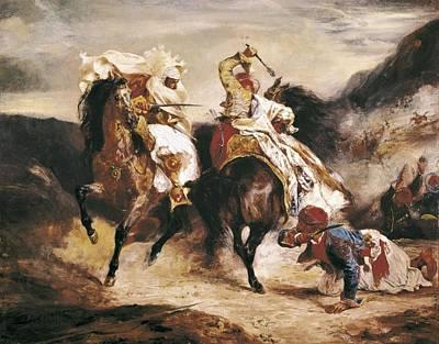 Delacroix, Eug�ne 1798-1863. Combat Print by Everett