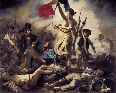 Delacroix, Eug�ne 1798-1863. Liberty Print by Everett