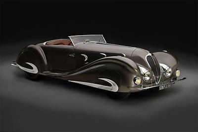 Car Digital Art - Delahaye 1930's Art In Motion by Marvin Blaine
