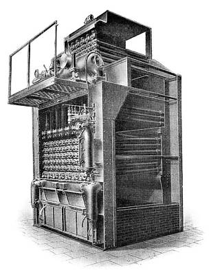 Delaunay-belleville Boiler Print by Science Photo Library