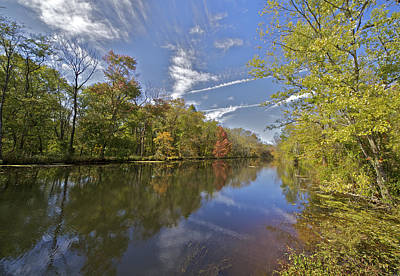 Red Leaves Photograph - Delaware And Raritan Canal by David Letts
