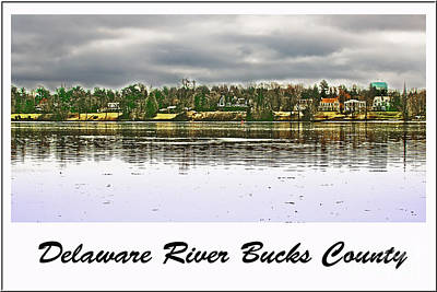 Bucks County Photograph - Delaware River Bucks County by Tom Gari Gallery-Three-Photography
