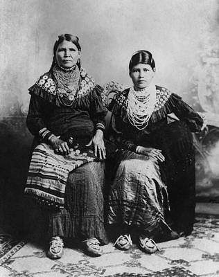 Bead Embroidery Photograph - Delaware Women, C1915 by Granger