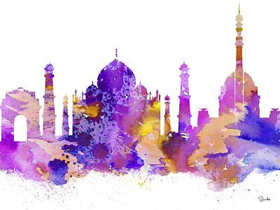 Map Painting - Delhi by Luke and Slavi