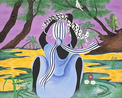 African American. Folk Art Painting - Delicate Cycle by Patricia Sabree