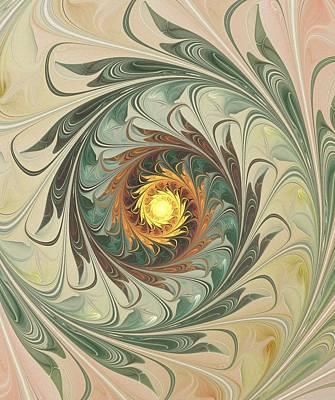 Plant Digital Art - Delicate Spiral by Anastasiya Malakhova