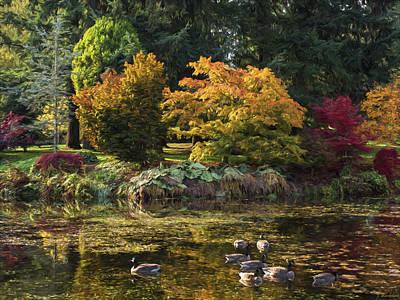 Maple Season Painting - Delicious Autumn - Autumn Art by Jordan Blackstone