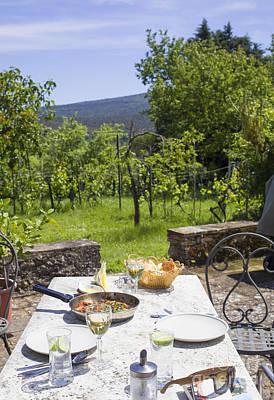 Delicious Italian Lunch In Garden Print by Patricia Hofmeester