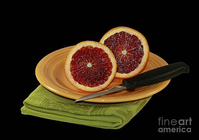 Delicious Juicy Blood Oranges Print by Inspired Nature Photography Fine Art Photography
