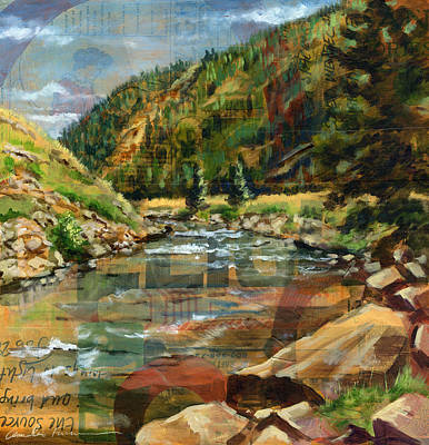 White Water Rafting Painting - Delight by Amelia Furman
