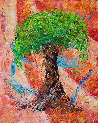 Pallet Knife Painting - Delight by William Killen