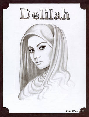 Revelation Drawing - Delilah by Peter Olsen