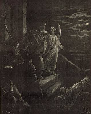 Deliverence Of St. Peter Print by Antique Engravings