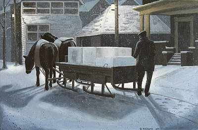 Delivering Ice Original by Dave Rheaume