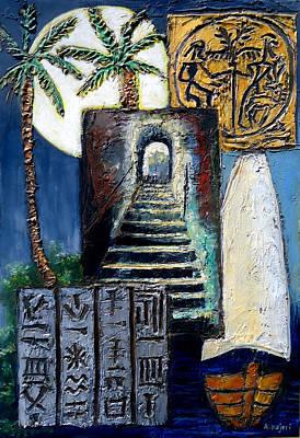 Arabia Painting - Delmun An Ancient Civilization by Amani Al Hajeri