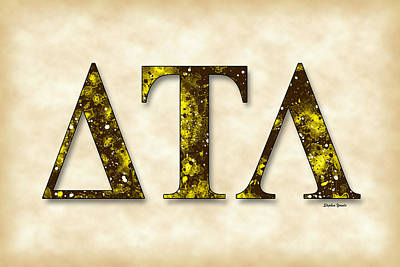 University Of Michigan Digital Art - Delta Tau Lambda - Parchment by Stephen Younts