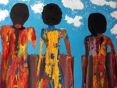 Demoiselles De Marrakesh Original by Omar Hafidi