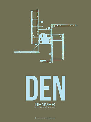 Colorado Mixed Media - Den Denver Airport Poster 3 by Naxart Studio