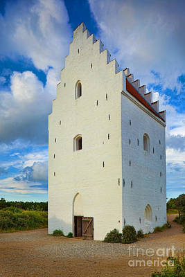 Danish Photograph - Den Tilsandede Kirke Steeple by Inge Johnsson
