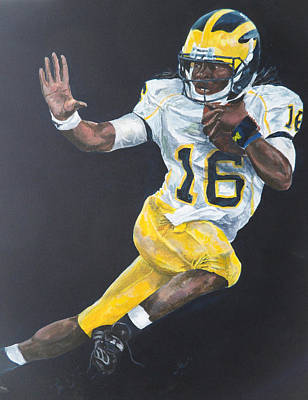 University Of Michigan Painting - Denard Heisman by Travis Day