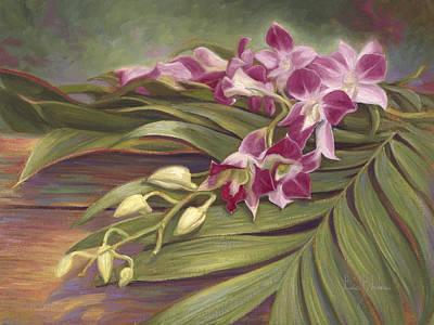 Dendrobium Orchids Original by Lucie Bilodeau