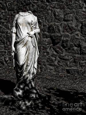 Balck Art Photograph - Denial Of Death by Colleen Kammerer