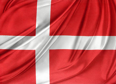 Danish Photograph - Denmark Flag by Les Cunliffe