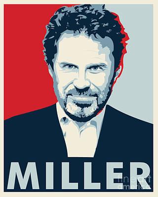 Dennis Miller Print by John Lehman