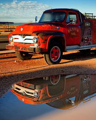 Dennis Volunteer Fire Engine Seligman Az Print by Troy Montemayor