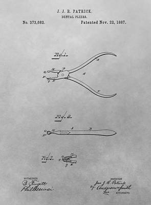 Dental Pliers Patent Drawing Print by Dan Sproul