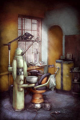 Dds Photograph - Dentist - Dental Office Circa 1940's by Mike Savad