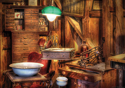 Dds Photograph - Dentist - In The Dentist's Office by Mike Savad