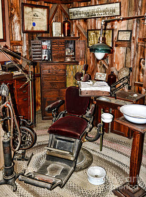 Old Time Photograph - Dentist - The Dentist Chair by Paul Ward