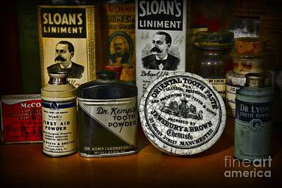 Dentist - Tooth Powder And More Print by Paul Ward