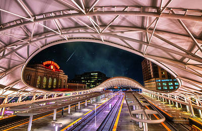 Train Depot Photograph - Denver Air Traveler by Darren  White