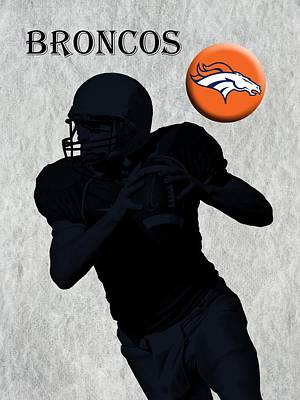 Denver Broncos Football Print by David Dehner