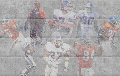 Denver Broncos Legends Print by Joe Hamilton