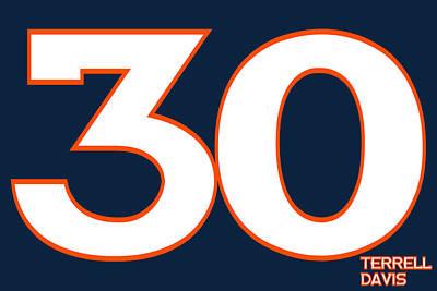 Denver Broncos Terrell Davis Print by Joe Hamilton