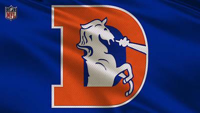 Denver Broncos Uniform Print by Joe Hamilton