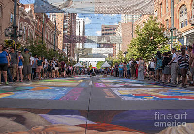 Asphalt Photograph - Denver Chalk Art Festival At Larimer Square 2014 by Juli Scalzi