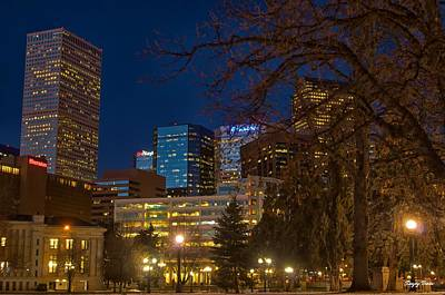 Usa Photograph - Denver Downtown by Sanjoy Basu