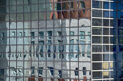 Denver Mixed Media - Denver Skyscraper Reflections 1 by Angelina Vick