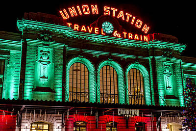 Train In The Winter Photograph - Denver's Union Station by Teri Virbickis