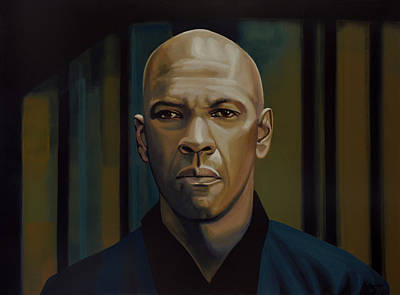 X Men Painting - Denzel Washington In The Equalizer Painting by Paul Meijering