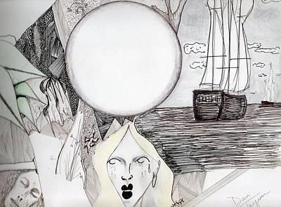 Moon Drawing - Departure by Dan Twyman
