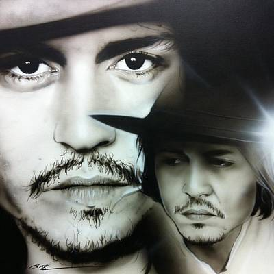 Johnny Depp Painting - Johnny Depp - ' Depp ' by Christian Chapman Art