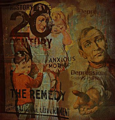 Democrat Digital Art - Depression In The 20th Century - 2 by Jeff Burgess