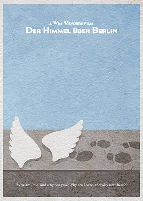 Berlin Mixed Media - Der Himmel Uber Berlin  Wings Of Desire by Ayse Deniz