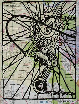 Derailluer On Map Original by William Cauthern