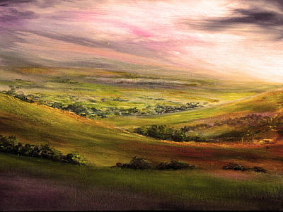 Reflection Painting - Derbyshire Light by Ann Marie Bone